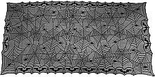 Halloween Elements Spooky Pattern Table Cloth