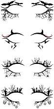 Halloween Eyeliner Sticker Eye Makeup Temporary Eye Tattoo Stickers Bat Spider Horror Fashion Party Decoration Eye