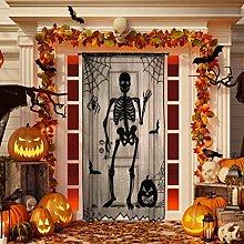 Halloween Funny Skull Door Curtain Halloween Door
