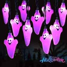 Halloween Ghost String Lights, 11.5Ft 20 LED Fairy