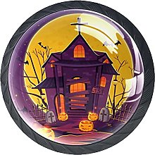 Halloween Haunted House with Gradient Lights-01