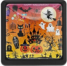 Halloween Illustrations Square Cabinet Knobs