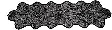 Halloween Lace Table Runner Scary Black Spider Web