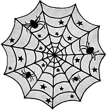 Halloween lace tablecloth, tablecloth in spider