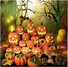 Halloween LED Jack-O-Lantern Pumpkin Lights, Scary