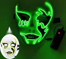 Halloween mask mask lighting led scary mask bright