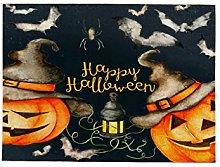 Halloween meal, pumpkin-shaped Halloween placemat