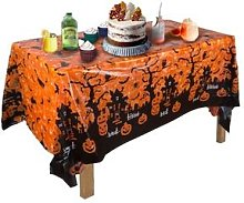 Halloween Party Tablecloth Decoration: Black and