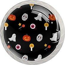 Halloween Pattern 4PCS Round Shape Cabinet Knobs