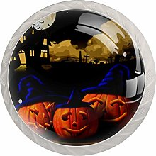 Halloween Pumpkin Witch Pattern Drawer Knobs Pulls