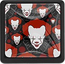 Halloween Scary Print Square Cabinet Knobs