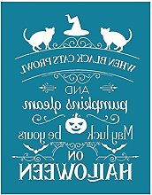 Halloween Self-Adhesive Silk Screen Printing
