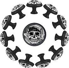 Halloween Skeleton with Roses 12PCS Round Drawer