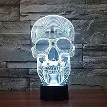 Halloween Skull Creative 3D Table Lamp Led