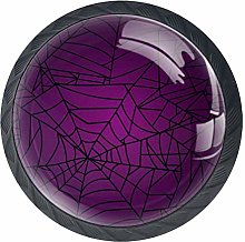 Halloween Spider Web Cabinet Door Knobs Handles