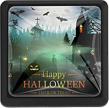 Halloween Spooky Night Square Cabinet Knobs