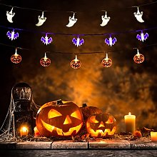 Halloween String Lights Set of 3, 20 LED Orange