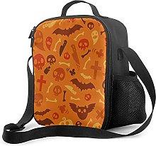 Halloween Symbols Orange Pattern Insulated Lunch