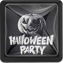Halloween Symbols Pumpkin Square Cabinet Knobs