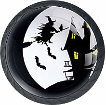 Halloween Witch Castle Moon Cabinet Door Knobs