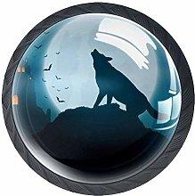 Halloween Wolf Knob Handles Door Knobs Cabinet