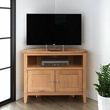 Hallowood - Hereford Oak 2 Door Corner TV Stand