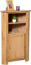 Hallowood - Waverly Oak Corner Storage Cabinet in
