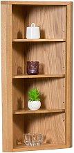 Hallowood - Waverly Oak Corner Storage Cabinet Top
