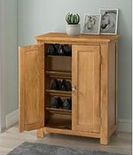 Hallowood - Waverly Oak Shoe Storage Cabinet