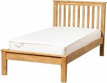 Hallowood - Waverly Oak Single Bed Frame in Light