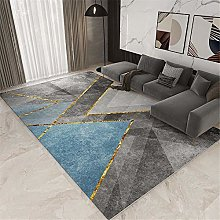 Hallway Rug Modern Geometry Carpets Gray Blue Rugs