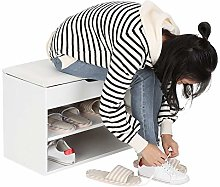 Hallway Shoe Storage Rack Shoe Change Bench,
