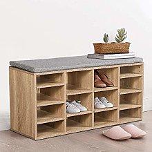 Hallway Wooden Shoe Bench Shoe Cabinet Storage