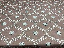 Halmstad Trellis Cotton Blush Pink 140cm Curtain