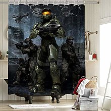 Halo 3 Master Chief Farmhouse Shower Curtain with