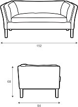 Halo Groucho Small 2 Seater Leather Sofa