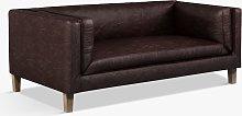Halo Spencer Medium 2 Seater Leather Sofa