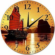 Halong Bay Vietnam Wall Clock Silent Non Ticking