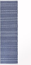 Halsey Indoor/Outdoor Blue & White Geometric