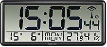 Hama Clock, Black, Rechteckig