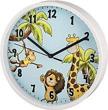 Hama Safari Children's Wall Clock, Blue, 27.5