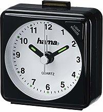 Hama Travel Clock, Black, 5.6 x 3 x 5.6 cm