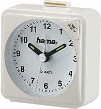 Hama Travel Clock, White, 5.6 x 3 x 5.6 cm