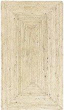 HAMID - Jute Carpet Alhambra Color Semi-White -