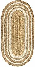 HAMID - Jute Carpet Alhambra Oval Natural Color