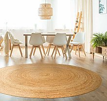 HAMID - Jute Carpet Alhambra Round Natural Color -