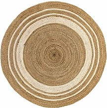 HAMID - Jute Carpet Alhambra Round Natural Color