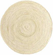 HAMID - Jute Carpet Alhambra Round Semi-White