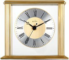 Hamilton Brass Effect Table Clock Acctim