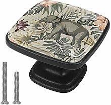 Haminaya Dresser Knobs For Kids leaf elephant Pull